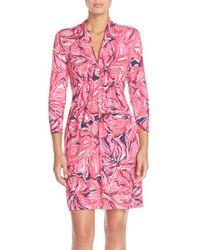 Lilly Pulitzer - Red 'alexandra' Print Tunic Dress - Lyst