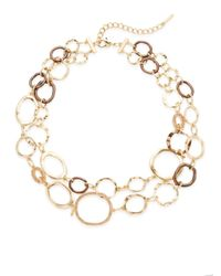 Saks Fifth Avenue | Metallic Wavy Link Double Chain Necklace | Lyst