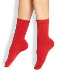 Falke | Red Wool Ankle Socks | Lyst