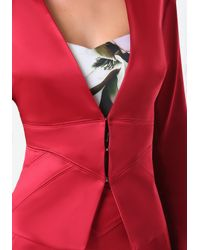 Bebe - Red Tiana Seamed Jacket - Lyst