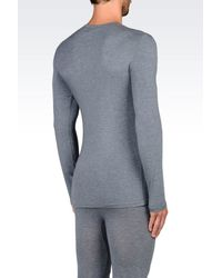 Emporio Armani - Gray Undershirt for Men - Lyst