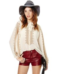 Nasty Gal - Natural Vintage Tamil Blouse - Lyst