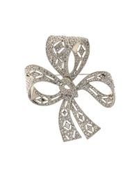 Brooks Brothers | Metallic Bow Brooch | Lyst