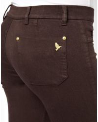 M.i.h Jeans | Brown Skinny Marrakesh Midrise Flared Jeans in Coffee | Lyst