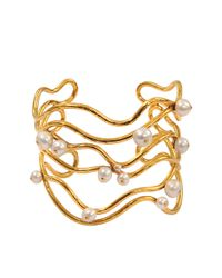Aurelie Bidermann | Metallic Cheyne Walk Water Pearls Cuff | Lyst