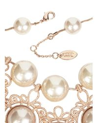 Vivienne Westwood | Pink Isolade Rose Gold Tone Necklace | Lyst