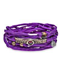 Platadepalo | Trend Purple Silk Bracelet | Lyst