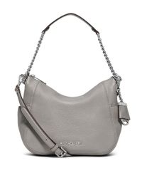 MICHAEL Michael Kors | Gray Chandler Leather Convertible Shoulder Bag | Lyst