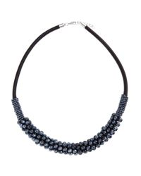 John Lewis | Black Cluster Tube Necklace | Lyst