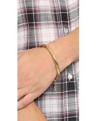 Rebecca Minkoff - Metallic Charm Bangle Bracelet - Gold/black - Lyst
