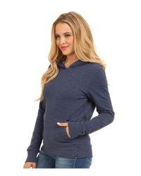 Hurley - Blue Solid Slim Fleece Pullover - Lyst