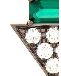 Nikos Koulis - Metallic Diamond, Emerald & White-Gold Earrings - Lyst