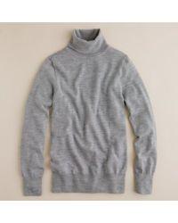 J.Crew | Gray Merino Wool Turtleneck Sweater | Lyst