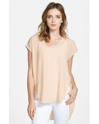 Eileen Fisher | Natural Silk Cocoon Top | Lyst
