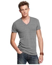 Alternative Apparel | Gray Boss V Neck Core T Shirt for Men | Lyst