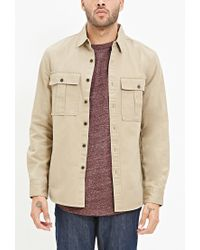 Forever 21 | Natural Two-pocket Cotton Shirt for Men | Lyst