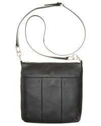 Tommy Hilfiger | Black Th Signature Pebble Leather Crossbody | Lyst