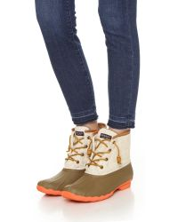 Sperry Top-Sider - Multicolor Saltwater Booties - Taupe/natural - Lyst