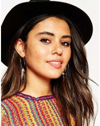 ASOS | Multicolor Limited Edition Feather Charm Hoop Earrings | Lyst