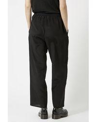 TOPSHOP - Black Wide Leg Silk Joggers By Boutique - Lyst