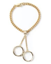 Chloé - Metallic Double Ring Bracelet - Lyst