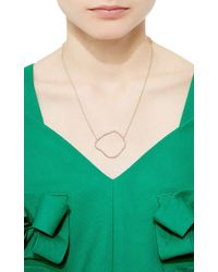 Kimberly Mcdonald | Pink Diamond Geode Outline Pendant | Lyst