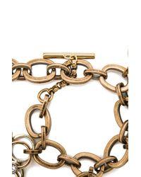 Lanvin | Metallic Luck Charm Bracelet | Lyst