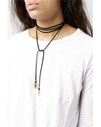 Vanessa Mooney - Black Bolo With Gold Arrows - Lyst