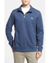 Tommy Bahama | Blue 'antigua' Half Zip Pullover for Men | Lyst