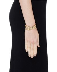 Philippe Audibert - Metallic 'serpent' Cutout Bracelet - Lyst