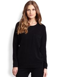 Saks Fifth Avenue | Black Cashmere Sweatshirt | Lyst