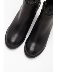 Forever 21 - Black Stacked Heel Buckled Booties - Lyst
