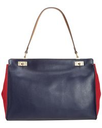 Tommy Hilfiger - Blue Molly Textured Leather Tote - Lyst