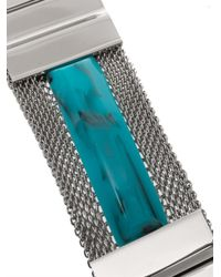Toga Pulla - Blue Mesh and Marbleeffect Stone Cuff - Lyst