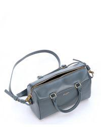 Saint Laurent - Blue Petrol Leather Convertible Mini Duffle Bag - Lyst