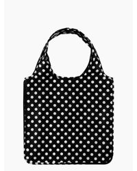 kate spade new york | Black Le Pavillion Reusable Shopping Tote | Lyst