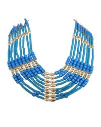 Ziba | Blue Thalia Statement Necklace | Lyst