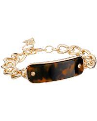Guess - Metallic Enamel Tortoise Id Bracelet - Lyst