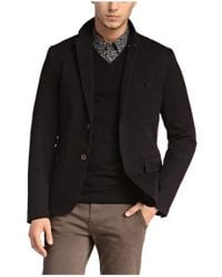 BOSS Orange - Black Regular-fit Jacket In Textured Stretch Cotton Blend: 'benestretch1-w' for Men - Lyst