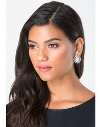 Bebe - Blue Opalescent Stud Earrings - Lyst