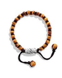 David Yurman | Brown Spiritual Beads Tworow Bracelet with Tigers Eye for Men | Lyst