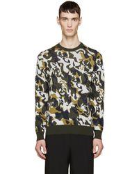 Alexander McQueen | Green & Cream Skull Camouflage Pullover for Men | Lyst