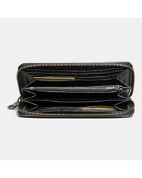 COACH - Brown Accordion Zip Wallet In Sport Calf Leather - Lyst