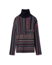 Tory Burch - Purple Wool Jacquard Turtleneck - Lyst