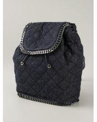 Stella McCartney | Blue 'Falabella' Denim Backpack | Lyst