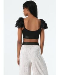 Bebe | Black Olivia Bra Top | Lyst