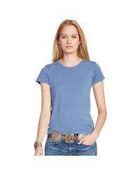 Polo Ralph Lauren | Blue Cotton Jersey Tee | Lyst