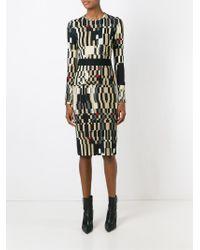 Givenchy - Natural Colour Block Sheath Dress - Lyst
