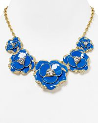 "kate spade new york - Blue Beach House Bouquet Graduated Necklace, 16"" - Lyst"