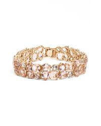 kate spade new york | Metallic 'make Me Blush' Crystal Bracelet | Lyst